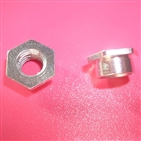 Automatic lathe hex nut